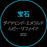 宝石 ダイヤモンド・エメラルド・ルビー・サファイアetc